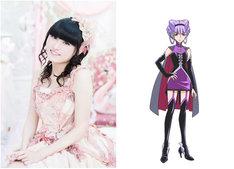 左から田村ゆかり、ルールーのキャラクター設定画。