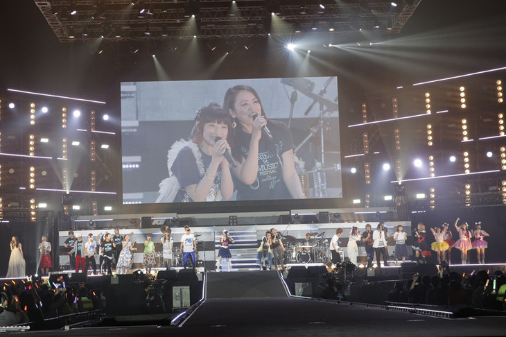 「NBCUniversal ANIME×MUSIC FESTIVAL ~25thANNIVERSARY~」の様子。