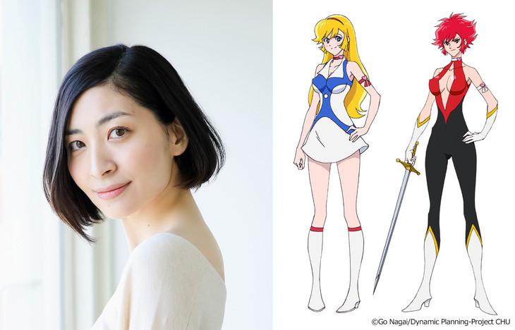 左から坂本真綾、如月ハニー/キューティーハニーのキャラクタービジュアル。