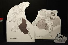 「甲鉄城のカバネリ」エリアより、生駒と無名の大型パネル。