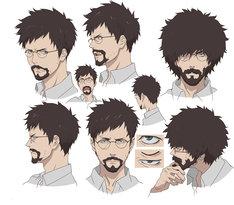 キース・風間・フリック(CV:平田広明)キャラクター設定画。