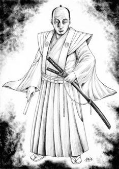 原泰久が描き下ろした鍋島直正のイラスト。(c)原泰久/集英社