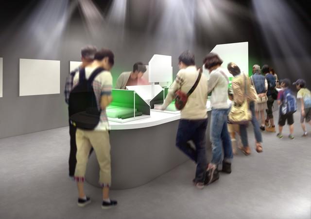 企画展示ゾーンの「ラボエリア」のイメージ。