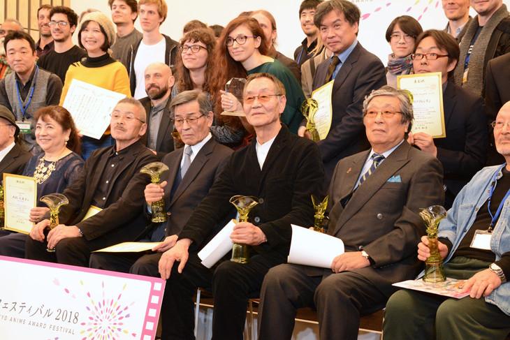 「東京アニメアワードフェスティバル2018」授賞式の様子。
