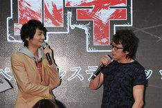 左から島崎信長、板垣恵介。