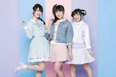 主題歌「プリマ☆ドンナ?メモリアル!」を歌うRun Girls, Run!。