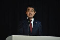 サンライズの常務取締役・佐々木新氏。