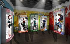 「僕のヒーローアカデミア」の展示イメージ。(c)堀越耕平/集英社