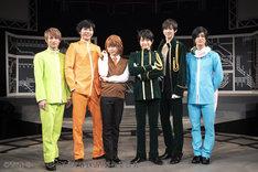 左から木戸邑弥、郷本直也、KIMERU、永山たかし、田中涼星、高崎翔太。