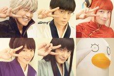 「銀魂2(仮題)」キャラクタービジュアル。上段左から坂田銀時、志村新八、神楽。下段左から志村妙、桂小太郎、エリザベス。
