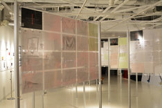 「DEVILMAN crybaby SABBATH SHIBUYA」展示の様子。