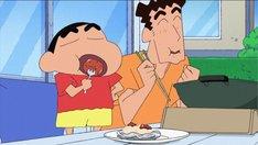 テレビアニメ「クレヨンしんちゃん」の「くんせいにチャレンジするゾ」より。