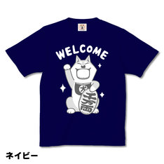 Tシャツ「まねきムーコ」ネイビー