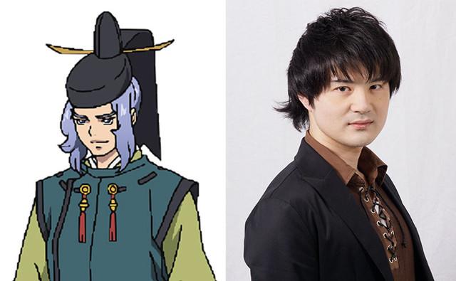 藤原頼信のキャラクタービジュアルと野村勝人。