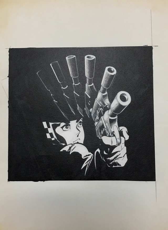 「ワイルド7 1973-74 地獄の神話 [生原稿ver.]」に封入されている複製原画の1種。
