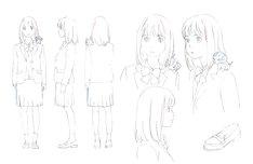 オープニングに登場するキャラクターのラフ。(c)NTV