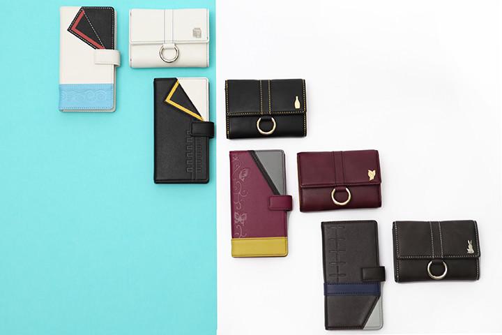 「銀魂」とコラボした財布、スマートフォンケース。