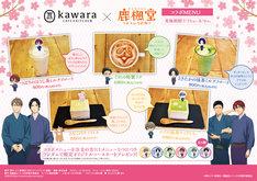 kawara CAFE&KITCHEN 吉祥寺PARCO店で提供される、テレビアニメ「鹿楓堂よついろ日和」とのコラボメニュー。