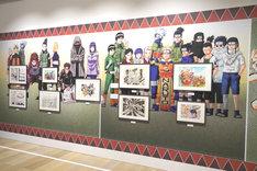 「NARUTO-ナルト-」の展示コーナー。(c)岸本斉史 スコット/集英社