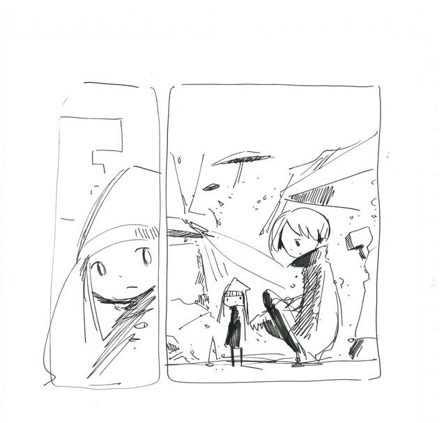 「岡崎京子を探せ▽ DOUBLLE KNOCKOUT 2049」ラフ