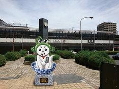 JR佐賀駅の南側駅前広場に設置される等身大佐賀春像のイメージ。