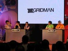 「SSSS.GRIDMAN」トークイベントの様子。左から広瀬裕也、緑川光、宮本侑芽、雨宮哲、野中剛。