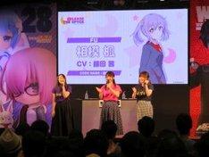 「RELEASE THE SPYCE」ステージイベントの様子。左から藤田茜、安齋由香里、のぐちゆり。