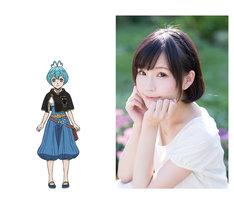 左からグレイのキャラクタービジュアル、高橋未奈美。