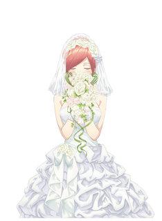 アニメ「五等分の花嫁」第1弾ティザービジュアル。(c)春場ねぎ・講談社/「五等分の花嫁」製作委員会