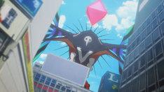 第3新東京市に出現した巨大怪物体「キングシトエル」。(c)プロジェクト シンカリオン・JR-HECWK/超進化研究所・TBS (c)カラー