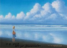 描き下ろし絵画「海辺の少女」の複製画。
