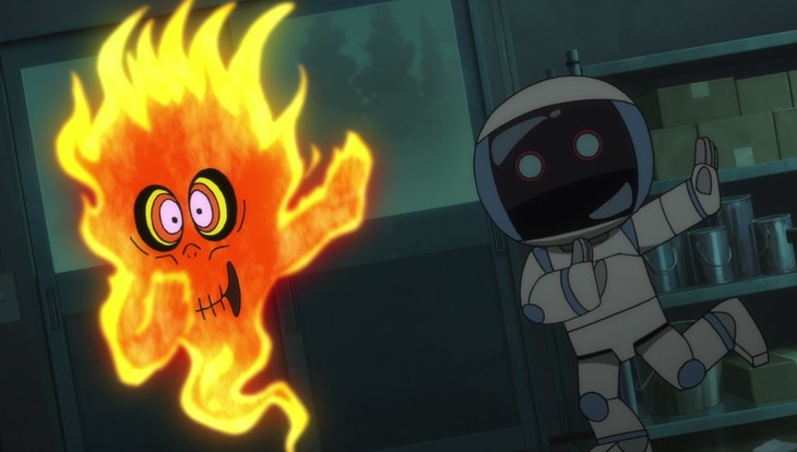 アニメ「ゲゲゲの鬼太郎」第21話「炎上!たくろう火の孤独」より。