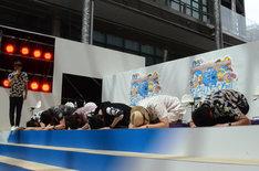テレビアニメ「中間管理録トネガワ」のイベント「帝愛ファイナンス債務者集会 in 汐留」より。