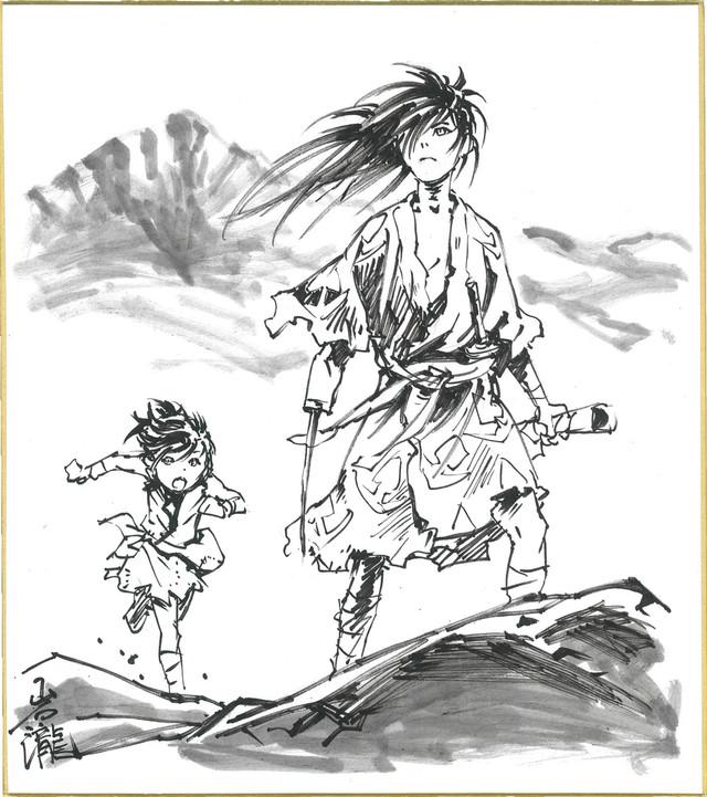 岩瀧智のサイン入り色紙。