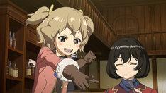 TVアニメ「荒野のコトブキ飛行隊」より。左からチカ、キリエ。