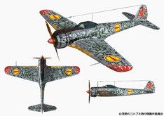 コトブキ飛行隊の搭乗機・隼一型(一式戦闘機一型)の設定画。