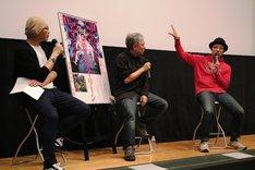 左からMCの森直人、奥浩哉、吉田恵輔監督。