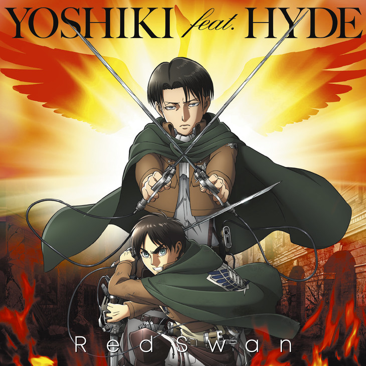 YOSHIKI feat. HYDE「Red Swan」進撃の巨人盤ジャケット
