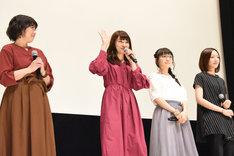 左から生天目仁美、中島愛、嶋村侑、神木優。