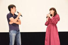 左から柴田宏明、中島愛。