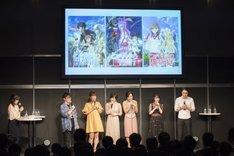 「とある魔術の禁書目録III」ステージの様子。左2番目から阿部敦、井口裕香、佐藤利奈、新井里美、日高里菜、三木一馬。