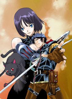 「槍使いと、黒猫。」キービジュアル