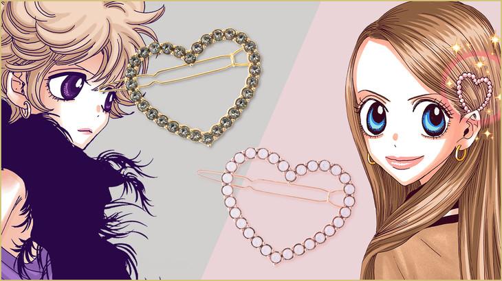 「ショコラのハートの髪飾り」をイメージしたヘアアクセサリー。