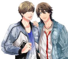 Prince-Oneの2人。左から京条竜(CV:田丸篤志)、相良辰生(CV:佐藤拓也)。