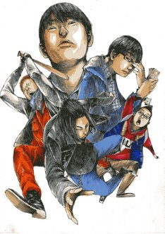 肥谷圭介による描き下ろしイラスト。