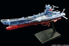 「『宇宙戦艦ヤマト2202 愛の戦士たち』第七章『新星篇』」初回限定版Blu-rayに特典として付属する「メカコレクション『ヤマト2202(クリアカラー)』。