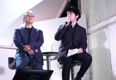 左から松倉友二チーフプロデューサー、上町裕介総合プロデューサー。