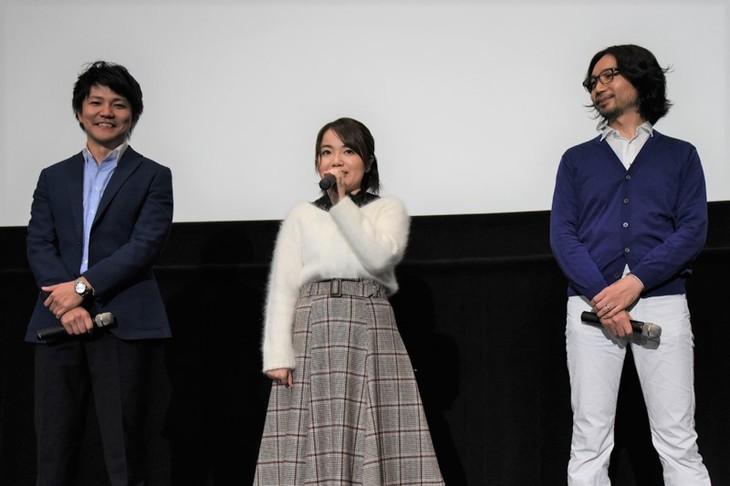 左から「HUGっと!プリキュア」プロデューサーの内藤圭祐、キュアエール/野乃はな役の引坂理絵、シリーズディレクターの座古明史。