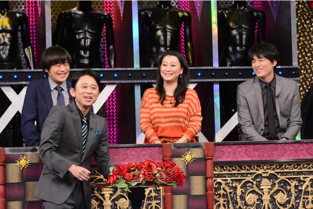 左からバカリズム、有吉弘行、友近、博多大吉。