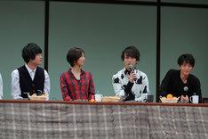 左から堀江瞬、安済知佳、中島ヨシキ、津田健次郎。